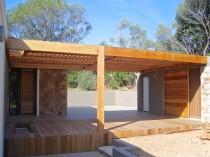 Brise soleil en bois «red cedar» – détail 2
