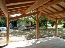 Extension bois – détail charpente