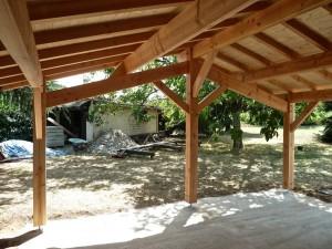 Extension bois - détail charpente