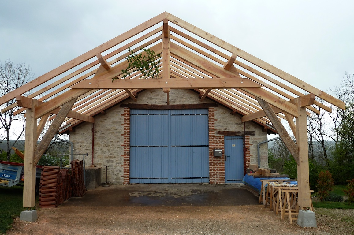 Extension garage bois for Extension garage